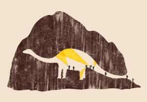 Searching archaeologists unaware of dinosaur shape inside of cave